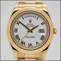 Rolex Day-Date II Yellow gold 41mm White Roman numerals