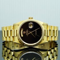 Rolex Day-Date 36 Желтое золото 36mm Черный Без цифр