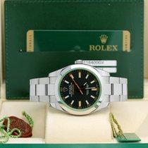 Rolex Milgauss Сталь 40mm Черный Без цифр