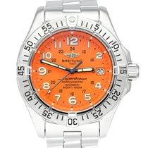 Breitling Superocean Steel 42mm Orange Arabic numerals