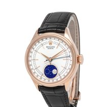 Rolex Cellini Moonphase Ruzicasto zlato 40mm Bjel