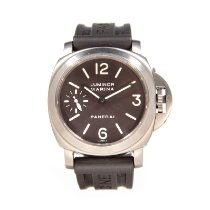 Panerai Luminor Marina Titanium 44mm Brown Arabic numerals