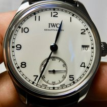IWC Portuguese Hand-Wound Steel 43mm White United States of America, North Carolina, Winston Salem