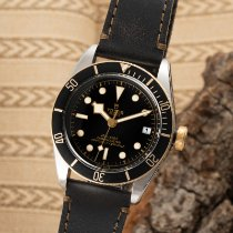 Tudor Black Bay S&G pre-owned 41mm Black Date Leather