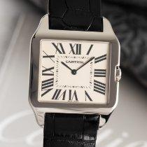 Cartier Weißgold Handaufzug 32mm gebraucht Santos Dumont