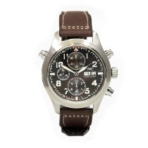 IWC Pilot Double Chronograph Steel 44mm Brown Arabic numerals United States of America, Arizona, Scottsdale