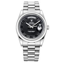Rolex Day-Date II Platinum 41mm Grey Arabic numerals United States of America, New York, New York