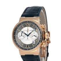 Ulysse Nardin Marine Chronograph Yellow gold 40mm Roman numerals United States of America, New York, Hartsdale