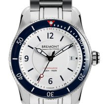 Bremont Supermarine S300/WHITE/BR Ny Stål 40mm Automatisk