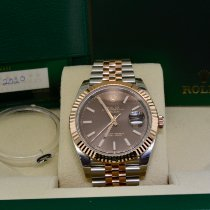 Rolex Datejust II Gold/Steel 41mm Brown No numerals United States of America, New York, Massapequa