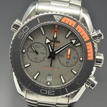Omega Seamaster Planet Ocean Chronograph pre-owned 45.5mm Grey Chronograph Date Titanium