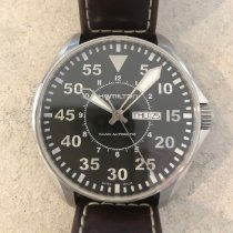 Hamilton Khaki Pilot Day Date Steel 46mm Black Arabic numerals United States of America, Minnesota, Medina