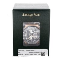 Audemars Piguet Rose gold Manual winding Black 44mm pre-owned Royal Oak Offshore Tourbillon Chronograph
