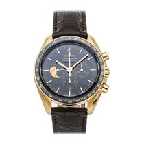 Omega Yellow gold Manual winding Blue No numerals 42mm pre-owned Speedmaster Professional Moonwatch