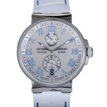 Ulysse Nardin Automatic Mother of pearl 43mm pre-owned Marine Chronometer Manufacture