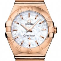 Omega Pозовое золото Кварцевые 24mm новые Constellation Quartz