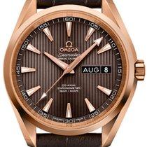 Omega Rose gold Automatic Grey 38.5mm new Seamaster Aqua Terra