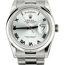Rolex 118206 Platinum Day-Date 36 36mm pre-owned United States of America, Illinois, BUFFALO GROVE