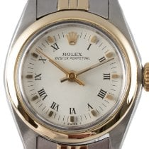 Rolex Oyster Perpetual 26 Gold/Stahl 26mm Weiß
