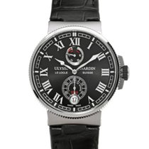 Ulysse Nardin Marine Chronometer Manufacture Steel 43mm Black