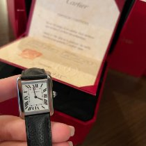 Cartier новые Кварцевые 34.8mm Сталь Сапфировое стекло