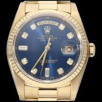 Rolex Day-Date 36 Or jaune 36mm Bleu Sans chiffres Belgique, Brussel