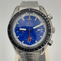 Omega Speedmaster Reduced pre-owned 39mm Blue Chronograph Tachymeter Steel