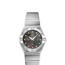 Omega Constellation Quartz nuevo Cuarzo Reloj con estuche y documentos originales 123.10.24.60.57.003