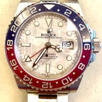 Rolex GMT-Master II Белое золото 40mm Cерый Без цифр