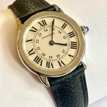 Cartier Ronde Croisière de Cartier Stahl 29mm Silber Römisch