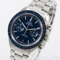 Omega Титан Автоподзавод Синий Без цифр 44.2mm новые Speedmaster Professional Moonwatch