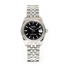 Rolex Lady-Datejust Сталь 31mm Черный