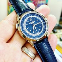 Patek Philippe World Time Chronograph White gold 39.5mm Blue No numerals United States of America, Florida, Boca Raton