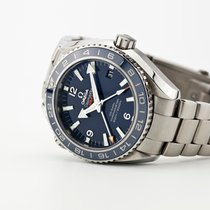 Omega Ceramic Automatic Blue Arabic numerals 43.5mm pre-owned Seamaster Planet Ocean