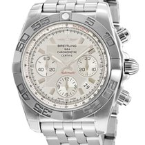 Breitling Chronomat 44 pre-owned 44mm Silver Chronograph Date Steel