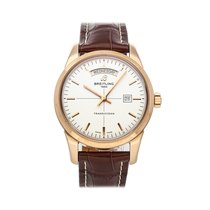 Breitling Transocean Day & Date Rose gold 43mm Silver No numerals