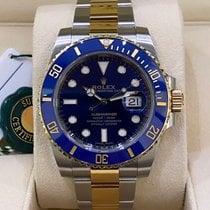 Rolex Keramik Automatik Blau Keine Ziffern 40mm gebraucht Submariner Date