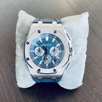 愛彼 Royal Oak Offshore Chronograph 鈦 42mm 藍色 無數字 香港, Hong Kong