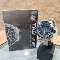 TAG Heuer Aquaracer 500M pre-owned 43mm Black Chronograph Date Steel