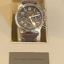 Longines Avigation Steel 41mm Black Arabic numerals