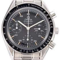Omega Speedmaster Reduced Сталь 39mm Черный Без цифр