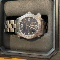 Breitling Emergency Titanium 45mm Zwart Arabisch