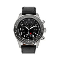 IWC Pilot Chronograph pre-owned 46mm Black Chronograph Date Rubber