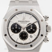 Audemars Piguet Royal Oak Chronograph Stahl 41mm Weiß
