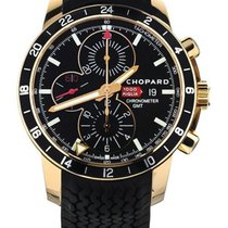 Chopard Rose gold Automatic Black 42mm pre-owned Mille Miglia