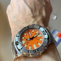 Seiko Monster Steel 42mm Orange No numerals