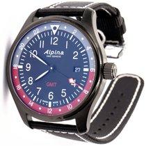 Alpina Startimer Pilot Сталь 42mm Черный Aрабские