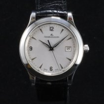 Jaeger-LeCoultre Master Control Date pre-owned 40mm Silver Date Leather