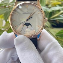 Jaeger-LeCoultre Master Ultra Thin Moon pre-owned 39mm Champagne Moon phase Date Crocodile skin
