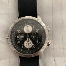 Hamilton Khaki X-Wind pre-owned 44mm Black Chronograph Date Rubber